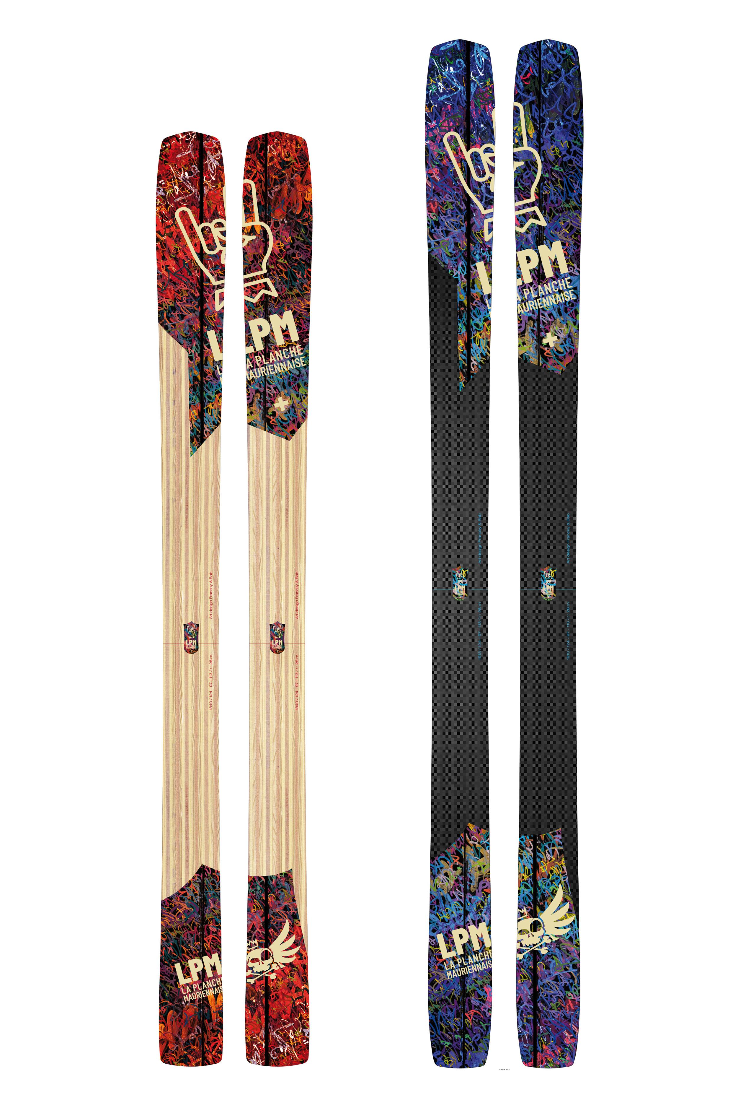 ski design97 LPM La Planche Mauriennaise fabrications artisanale skis Maurienne Savoie Albiez France