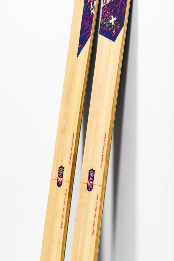 ski freeride design alpes maurienne artisan artisanat le 105 la planche mauriennaise all mountain ski polyvalent savoie mont blanc lpm