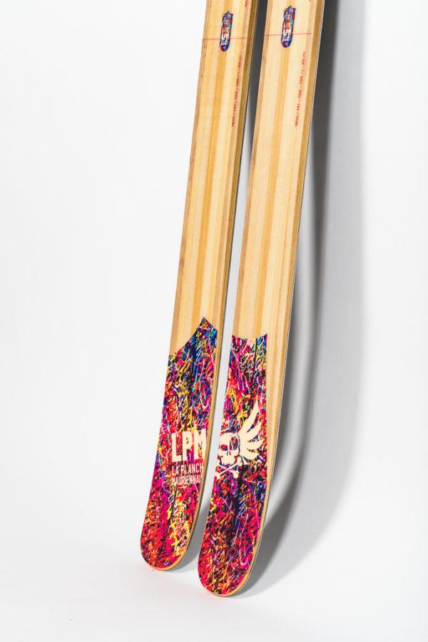 le 122 la planche mauriennaise lpm freestyle backcountry ski freeride design alpes maurienne artisan artisanat