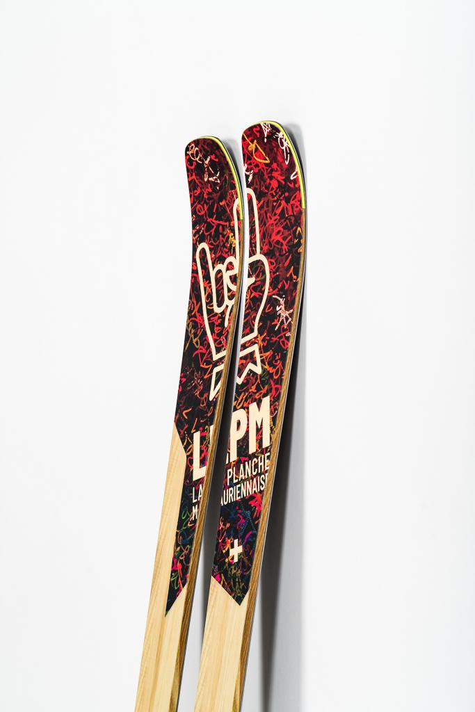 Design 88 ski LPM La Planche Mauriennaise fabrications artisanale skis Maurienne Savoie Albiez France