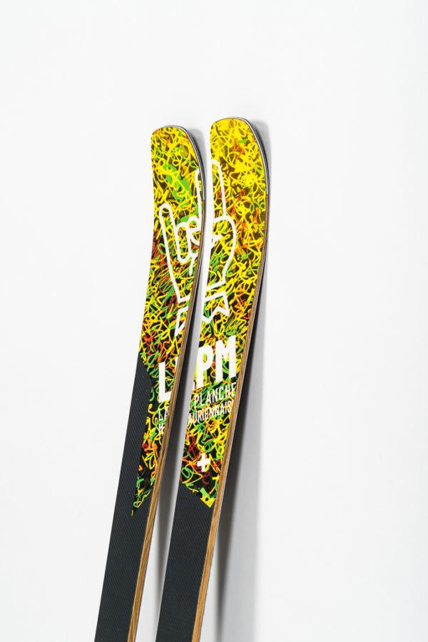 le black 88 lpm la planche mauriennaise savoie mont blanc freerando ski freeride design alpes maurienne carbone artisan artisanat