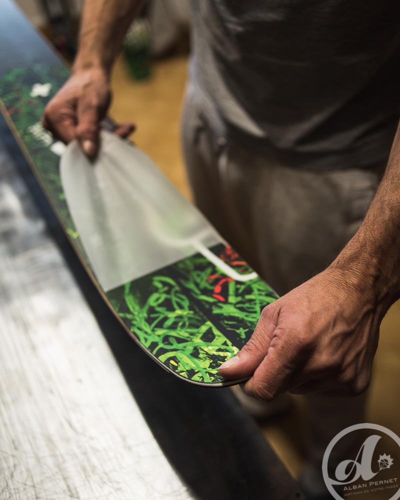 fabrication La Planche Mauriennaise LPM skis Savoie